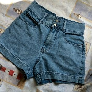 BDG Urban Outfitters high rise denim shorts